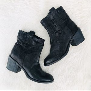 Eileen Fisher Black Textured Western Style Boot